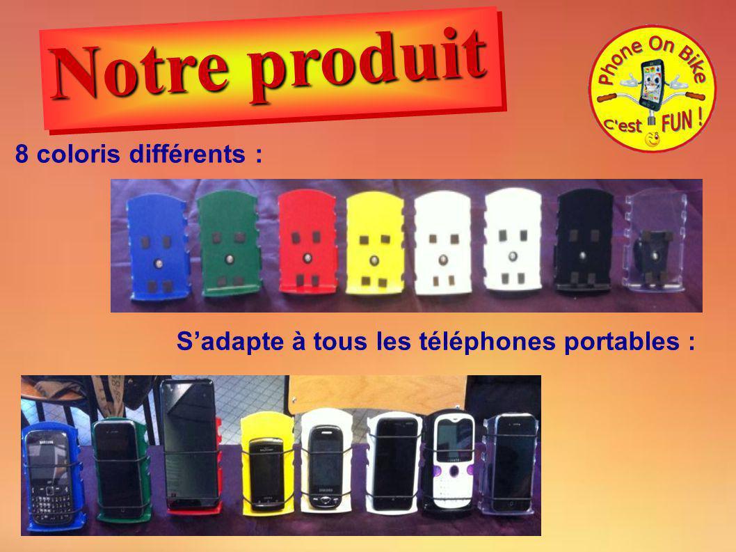 8 coloris différents : Sadapte à tous les téléphones portables : Notre produit