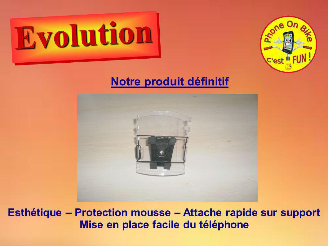 Notre produit définitif Esthétique – Protection mousse – Attache rapide sur support Mise en place facile du téléphone EvolutionEvolution