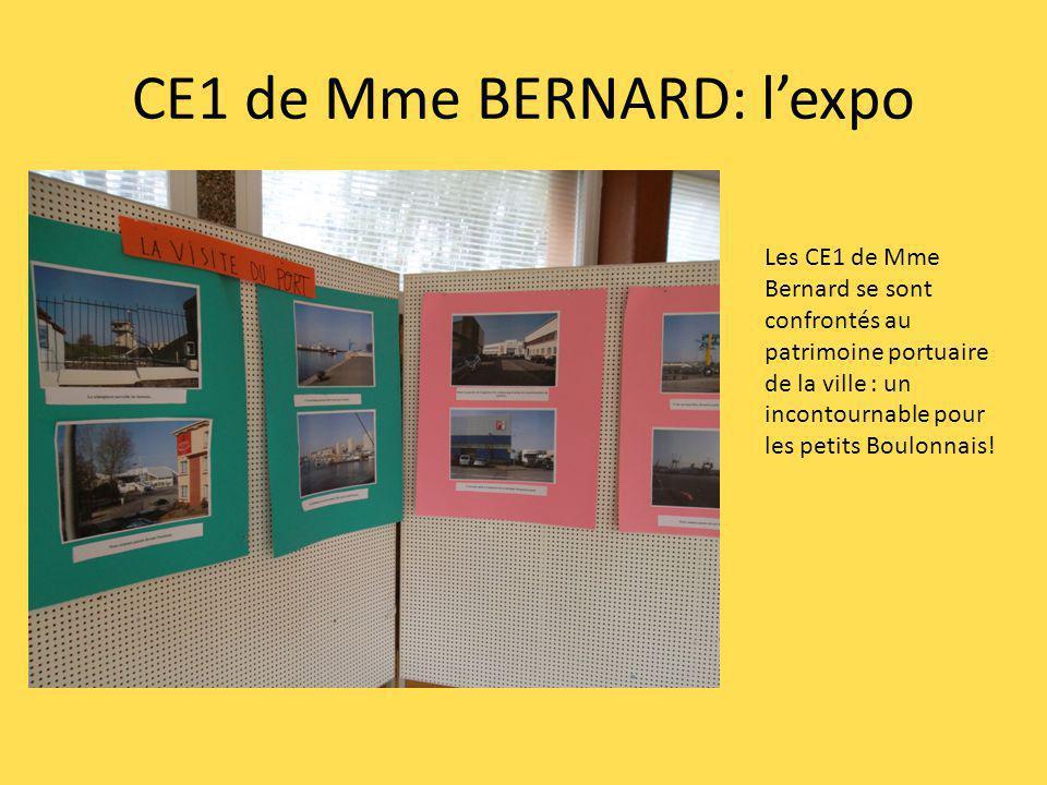 CE1 de Mme BERNARD: lexpo Les CE1 de Mme Bernard se sont confrontés au patrimoine portuaire de la ville : un incontournable pour les petits Boulonnais