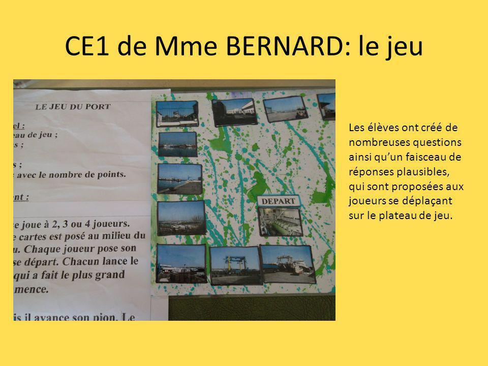 CE1 de Mme BERNARD: le jeu Les élèves ont créé de nombreuses questions ainsi quun faisceau de réponses plausibles, qui sont proposées aux joueurs se d