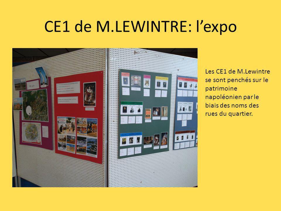 CE1 de M.LEWINTRE: lexpo Les CE1 de M.Lewintre se sont penchés sur le patrimoine napoléonien par le biais des noms des rues du quartier.