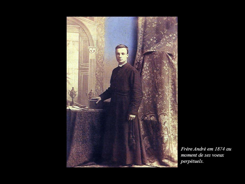 Frère André em 1874 au moment de ses voeux perpétuels.