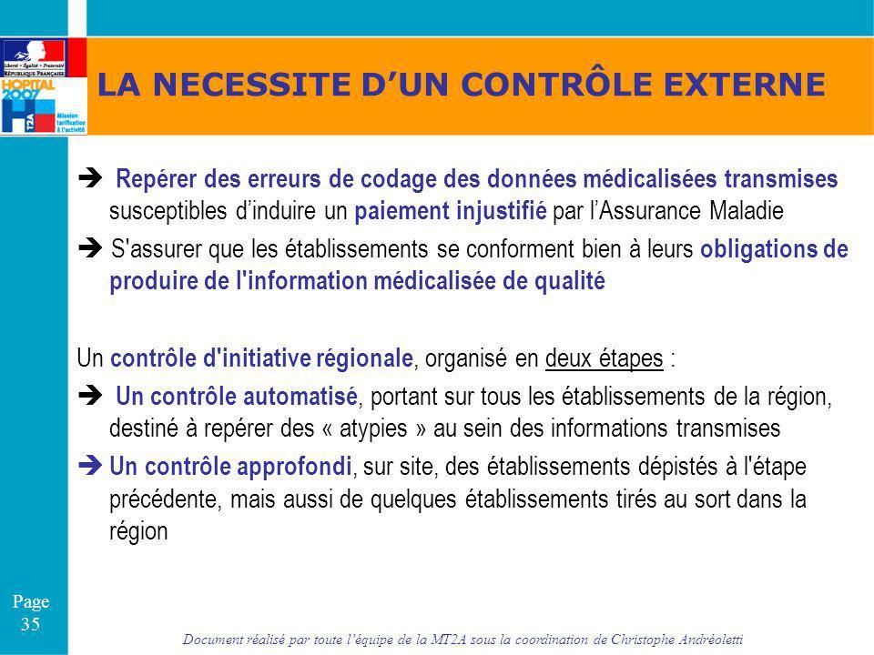 Document réalisé par toute léquipe de la MT2A sous la coordination de Christophe Andréoletti Page 35 LA NECESSITE DUN CONTRÔLE EXTERNE Repérer des err