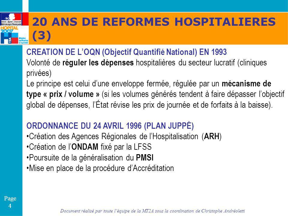 Document réalisé par toute léquipe de la MT2A sous la coordination de Christophe Andréoletti Page 4 CREATION DE LOQN (Objectif Quantifié National) EN