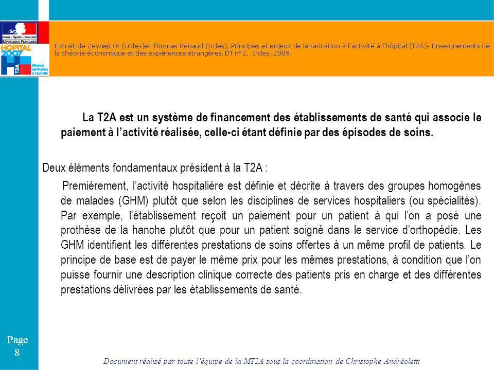 Document réalisé par toute léquipe de la MT2A sous la coordination de Christophe Andréoletti Page 8 Extrait de Zeynep Or (Irdes)et Thomas Renaud (Irde