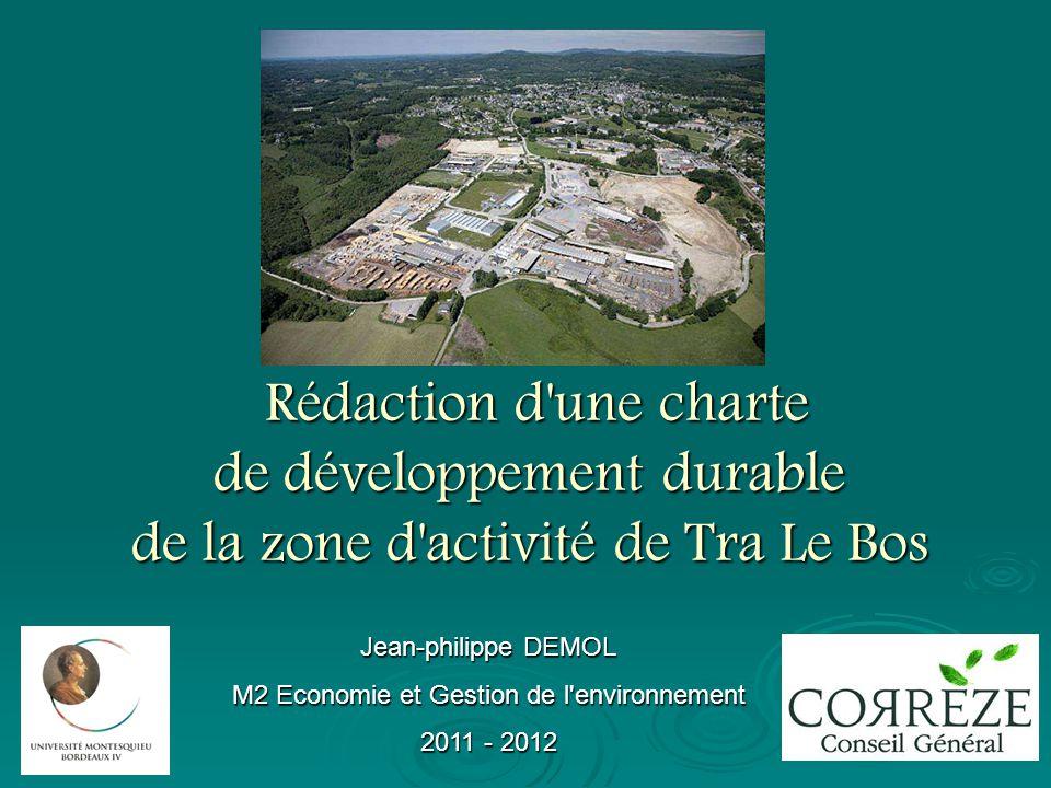 Rédaction d'une charte de développement durable de la zone d'activité de Tra Le Bos Rédaction d'une charte de développement durable de la zone d'activ
