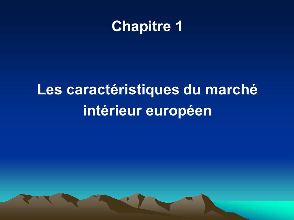Chapitre 1 Les caractéristiques du marché intérieur européen