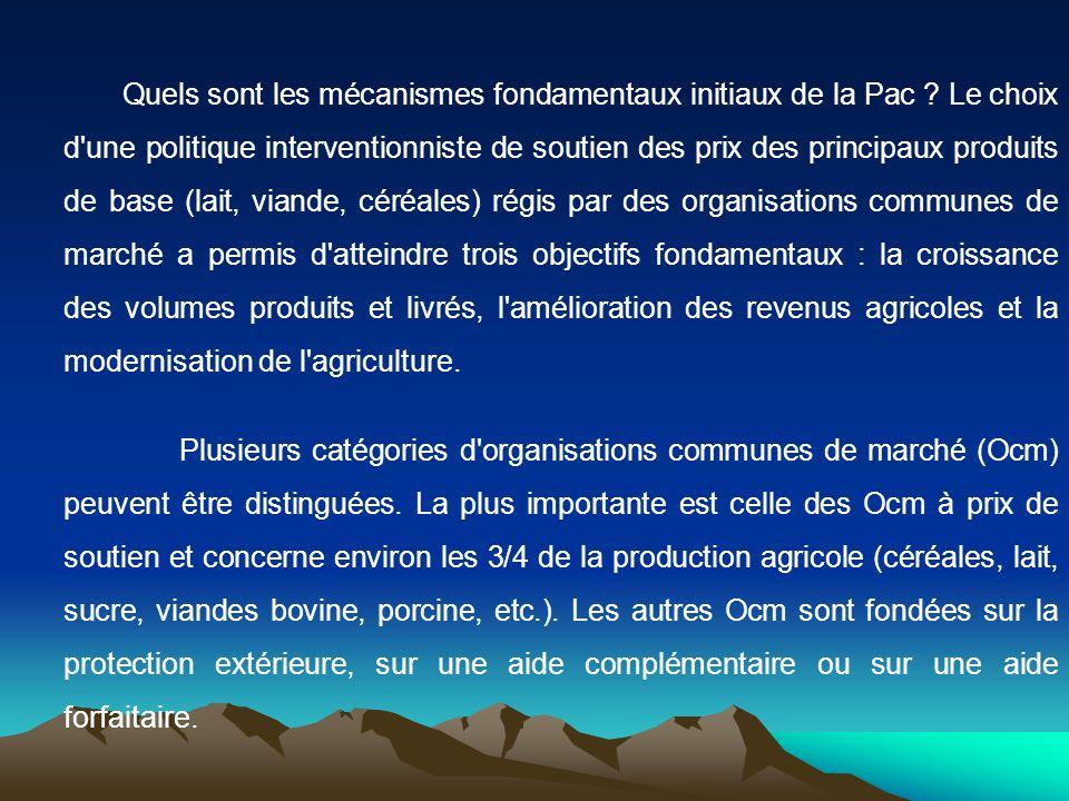 Quels sont les mécanismes fondamentaux initiaux de la Pac .