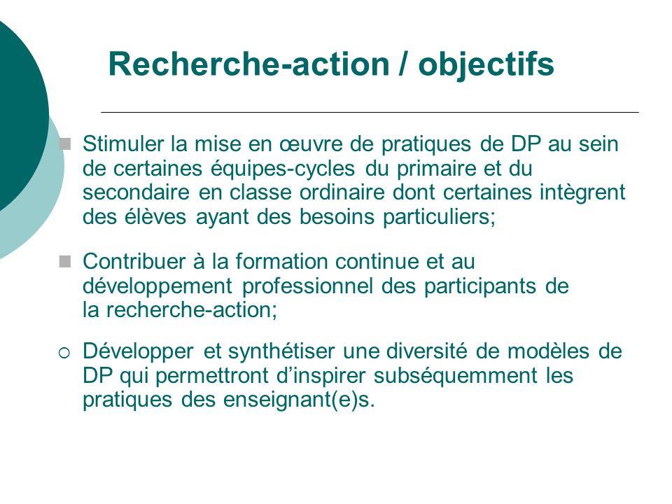 Plan de la présentation Recherche-action sur la DP Objectifs et structure Définition, finalités et démarche de DP Exemple dune démarche de DP vécue à St- Eugène / bilan des impacts (preuves) Diffusion Pause Offre de services 2007-2008