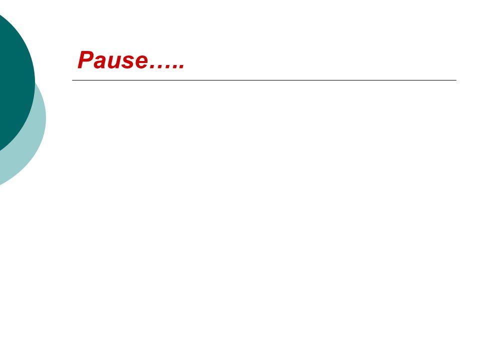 Pause…..