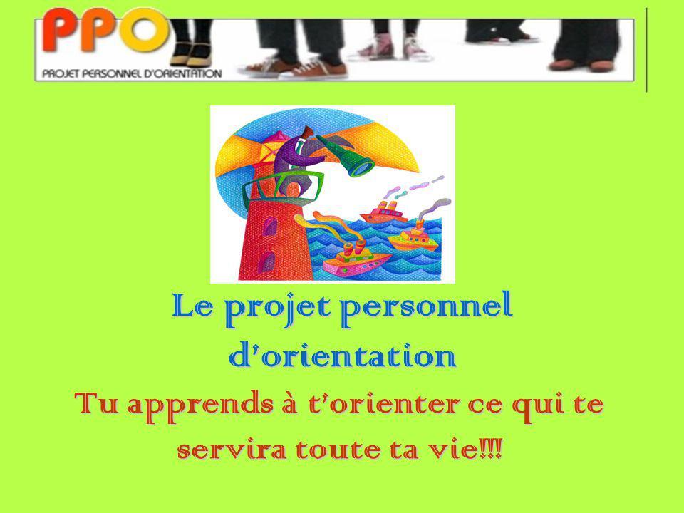 Le projet personnel dorientation Tu apprends à torienter ce qui te servira toute ta vie!!!