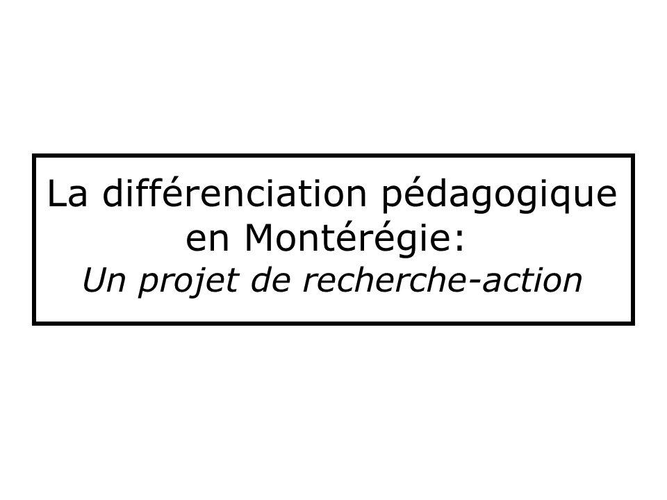 Critères de choix des équipes-cycles Représentativité par rapport aux autres équipes-cycles associées au projet.