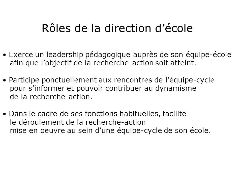 Rôles du DES et, ou coordonnateur Assure la sélection dun conseiller pédagogique et dune équipe-cycle en fonction des critères établis.