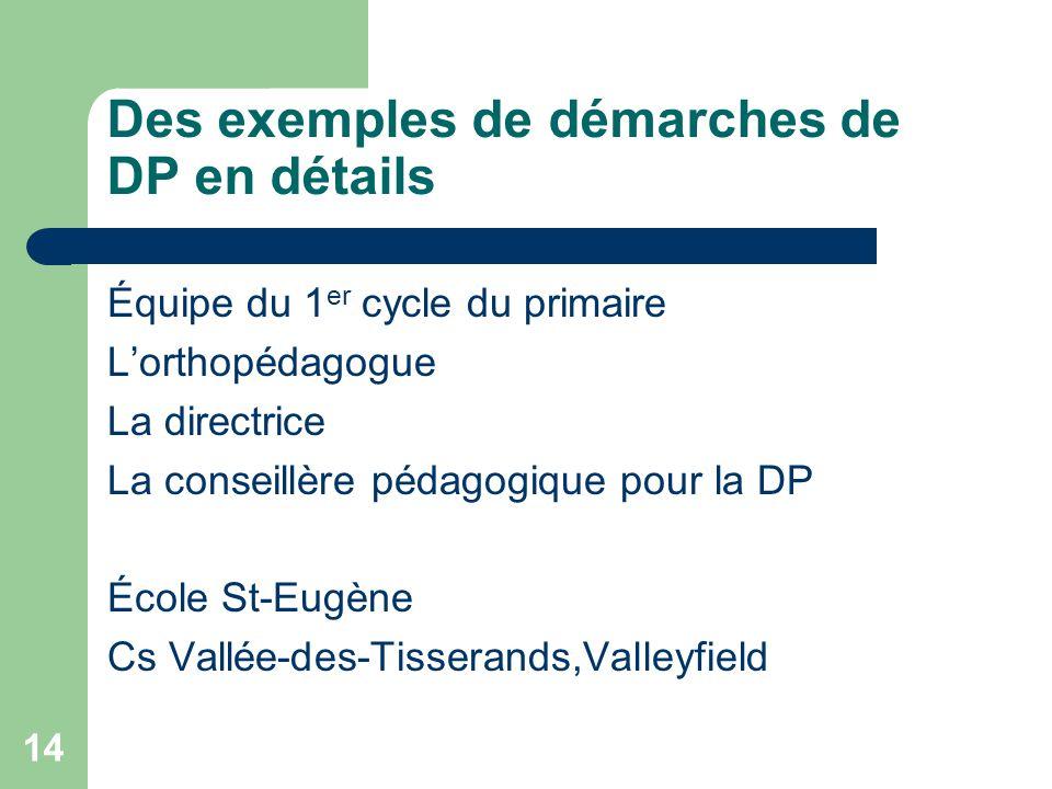 13 Plan de latelier Notre vision de la différenciation pédagogique (DP) Des exemples de démarches de DP Présentation et partage doutils Offre de servi