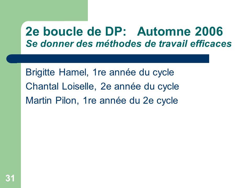 30 5. Évaluation de laction En juin 2006, on a constaté: Quil est gagnant de collaborer entre enseignants et les différents membres de léquipe des ser
