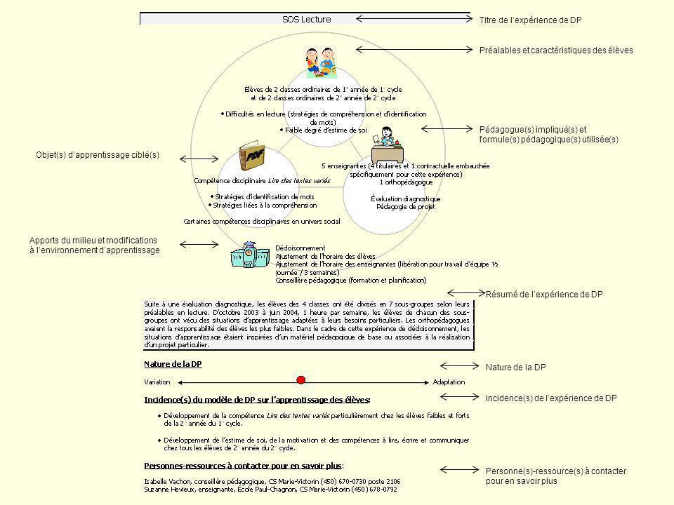 17 Évaluation Liens compétences ciblées / évaluation Référence à lapport de lexp. sur une ou des dimensions affectives du ou des sujet(s) (motivation,