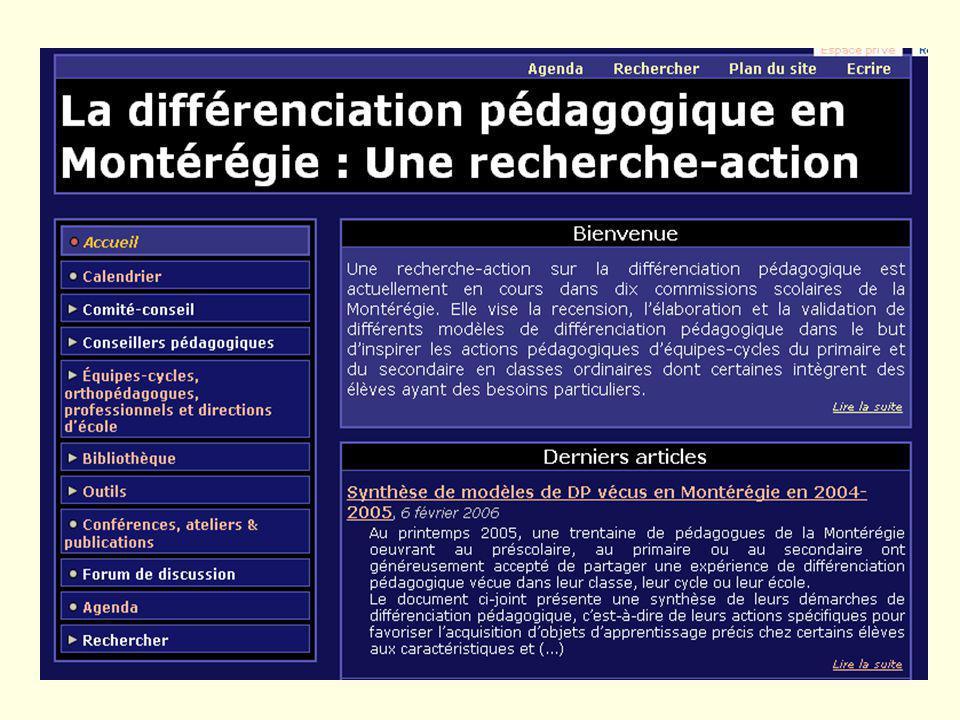 54 Diffusion Colloque ACSQ (nov. 2005 - 2006) Colloque des directions (fév. 2006) Article pour la revue Vie pédagogique (avril 2006) Article pour la r