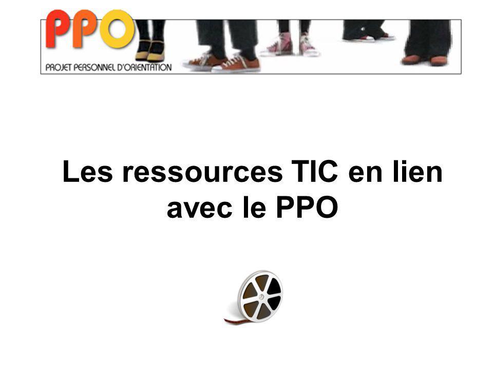 Les ressources TIC en lien avec le PPO