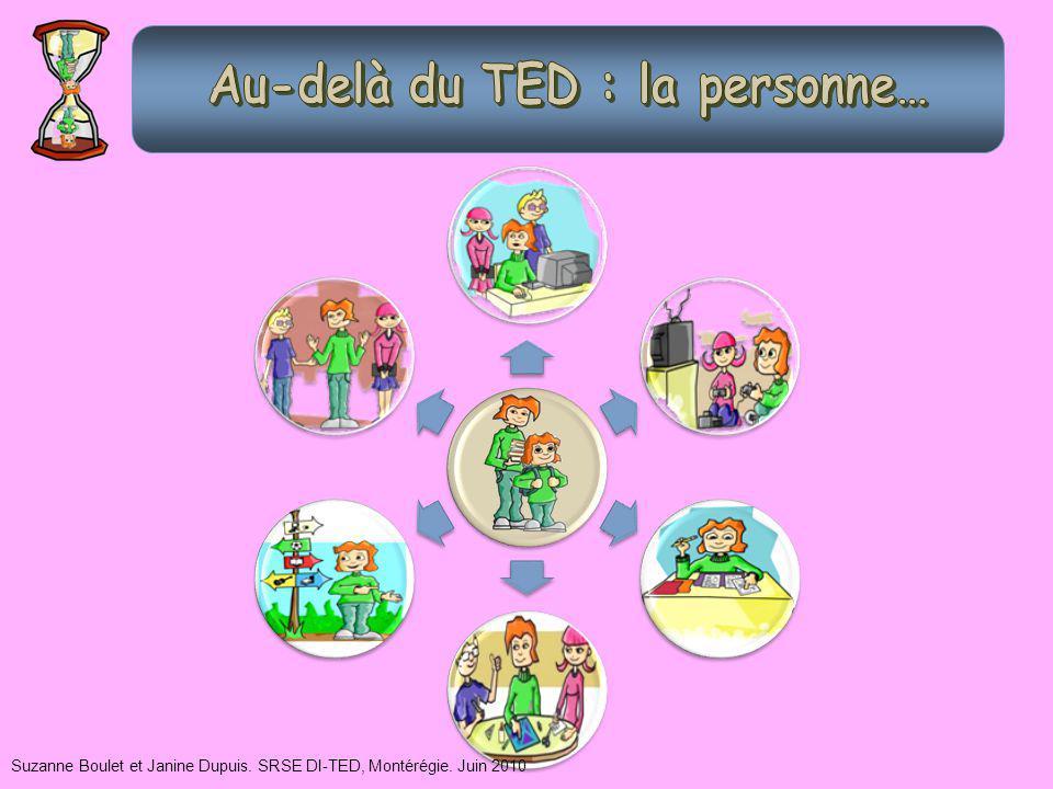 Suzanne Boulet et Janine Dupuis. SRSE DI-TED, Montérégie. Juin 2010