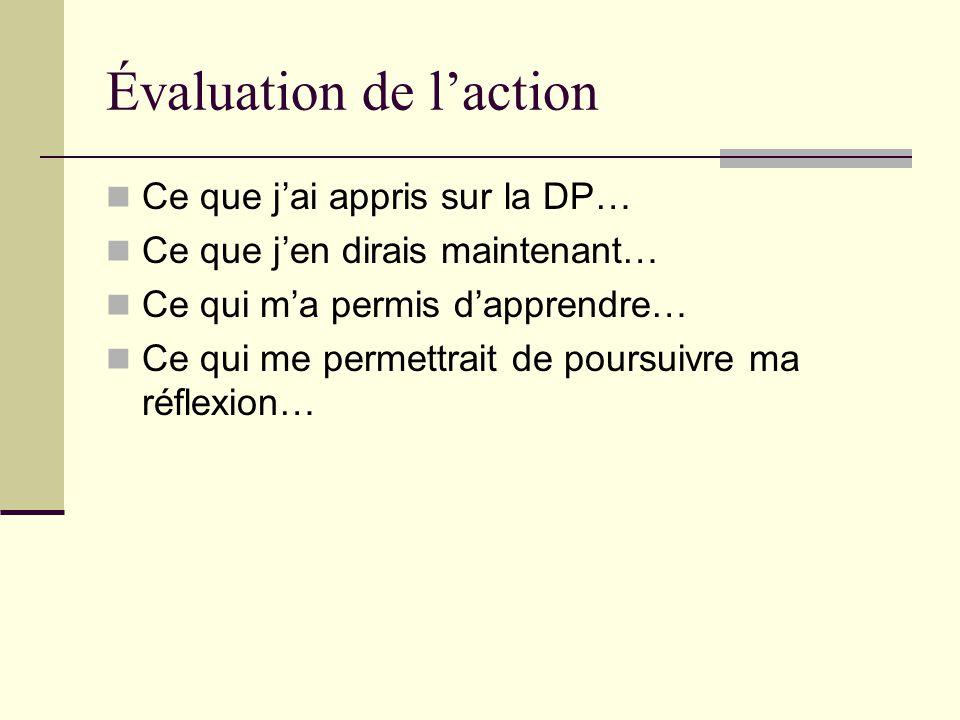 Une démarche de différenciation pédagogique Planification de laction Ordre du jour 3 Définition de la situation actuelle 1 Définition de la situation désirée 2 4 Action Évaluation de laction 5 APPRENTISSAGE Guay, Blais, Daneault, Gendron, Girard et Legault CS Trois-Lacs (2005) Divergences des conceptions quant à la définition, aux finalités et à la démarche de mise en œuvre de la DP.