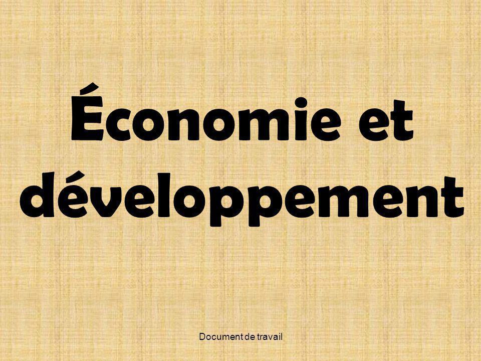 Document de travail Économie et développement