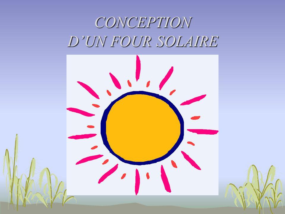 CONCEPTION DUN FOUR SOLAIRE