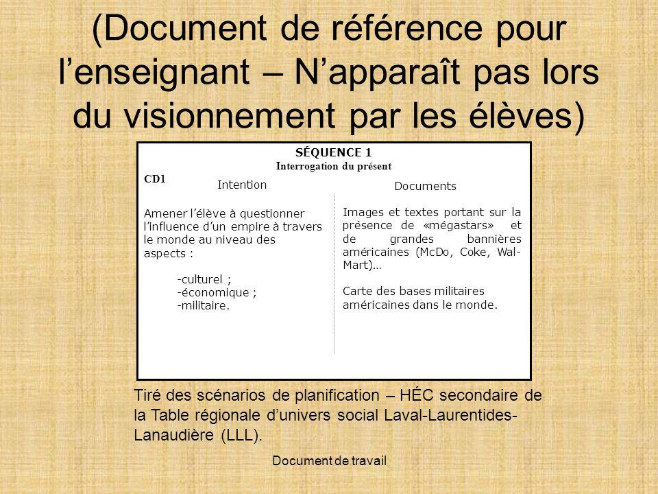 Document de travail 1 Le monde en image http://www.ccdmd.qc.ca/monde/ressource /?id=44387&demande=desc Le monde en image http://www.ccdmd.
