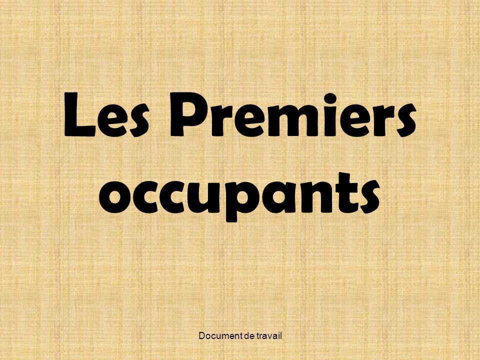 Document de travail Les Premiers occupants