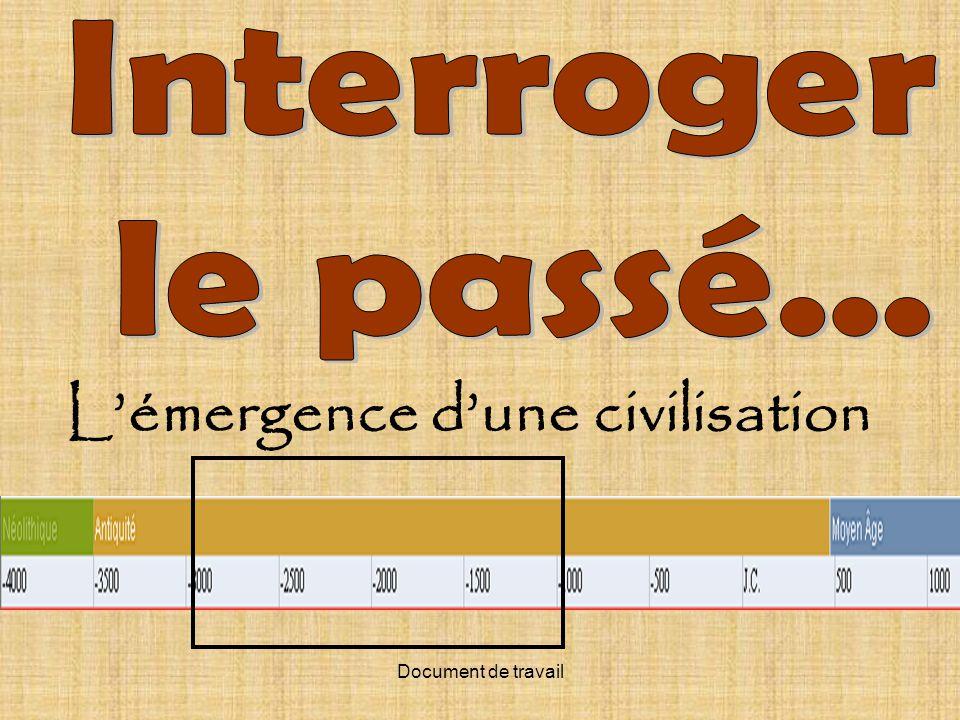 Document de travail Lémergence dune civilisation