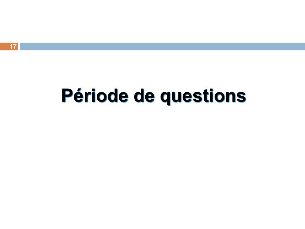 Période de questions 17