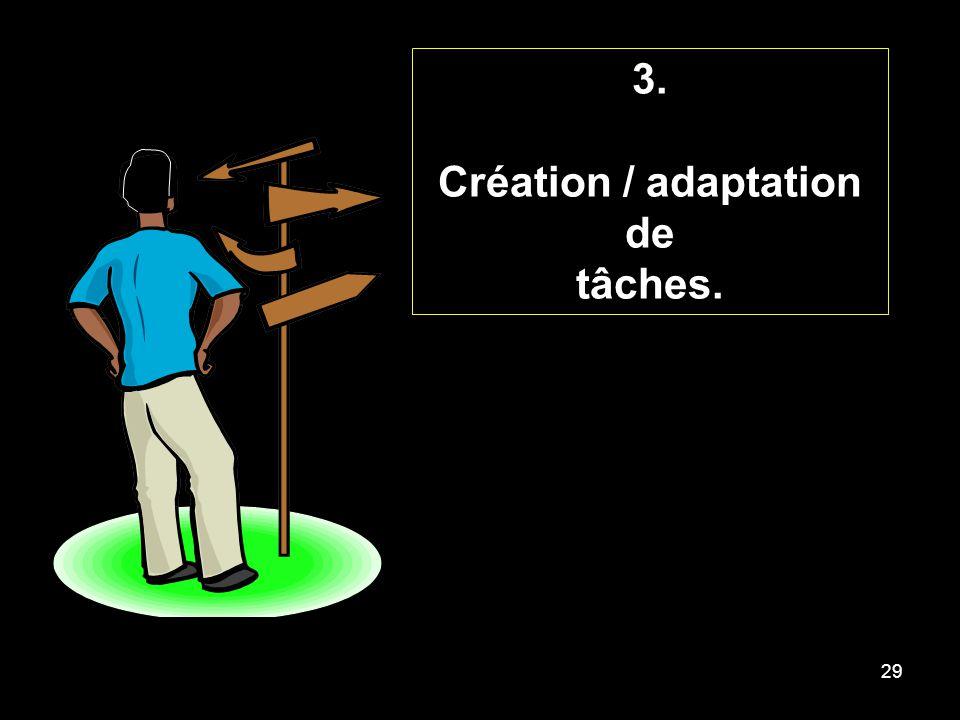 29 3. Création / adaptation de tâches.