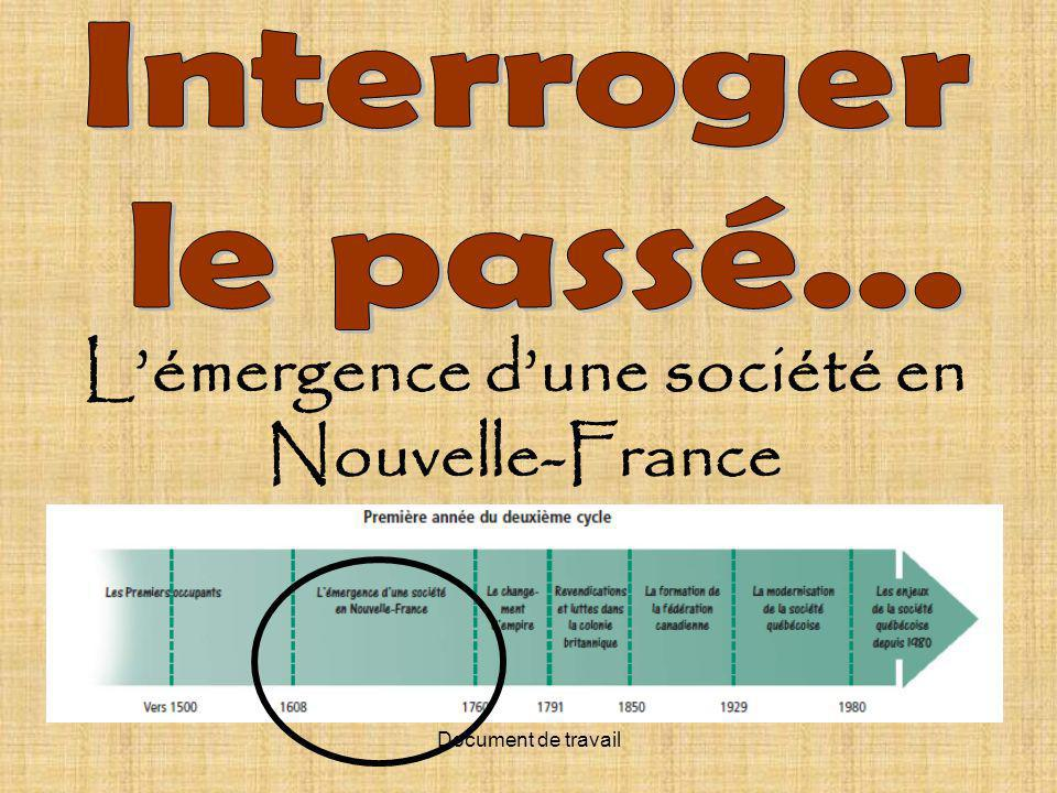 Document de travail Lémergence dune société en Nouvelle-France
