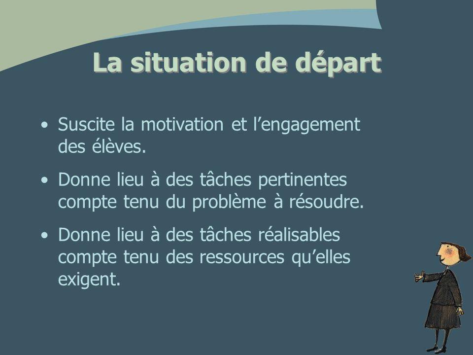Les tâches Pertinentes Défi réaliste Ni trop simples, ni trop difficiles, précises Ressources disponibles Trois phases distinctes Durée raisonnable