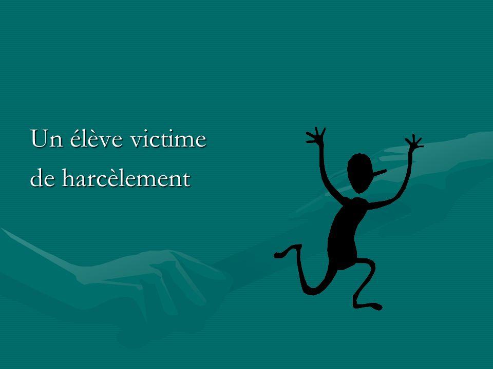 Un élève victime de harcèlement
