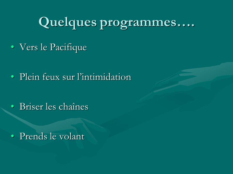 Quelques programmes….