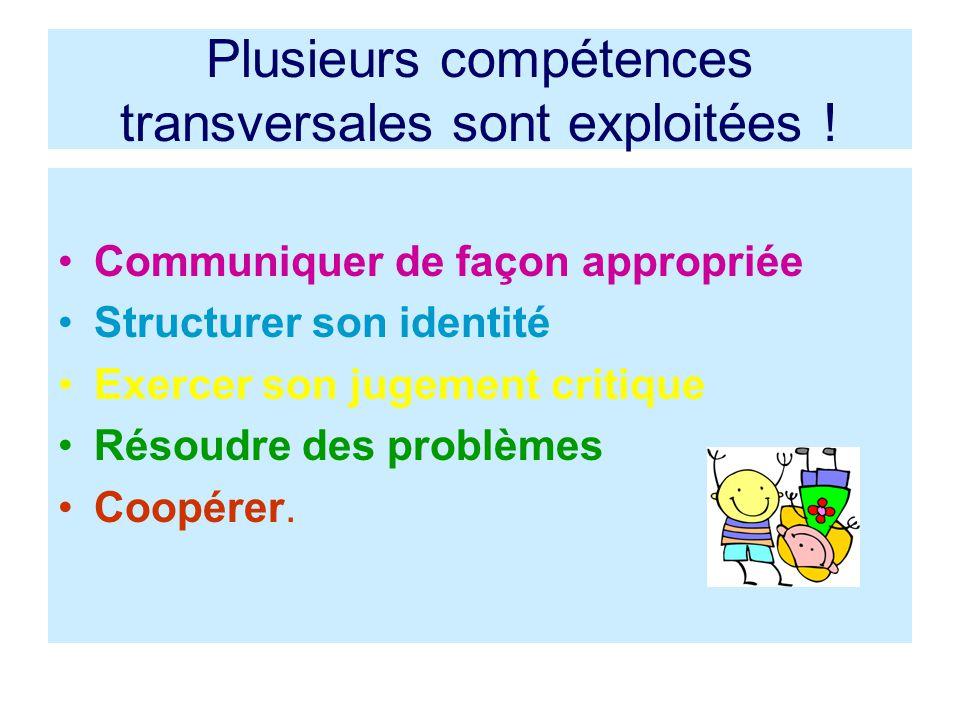 Plusieurs compétences transversales sont exploitées .