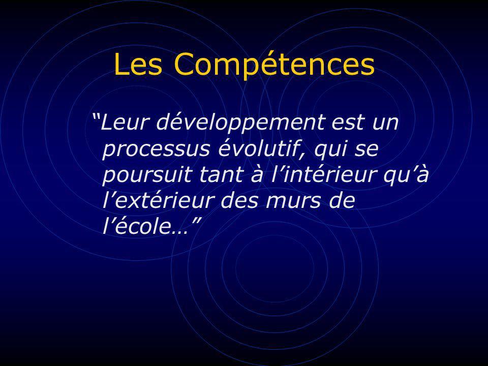 Les Compétences Elles sont complémentaires les unes aux autres et toute situation conplexe fait nécessairement appel à plusieurs dentre elles.