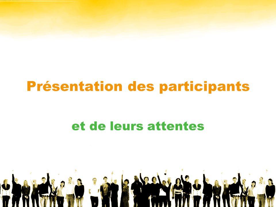 Présentation des participants et de leurs attentes