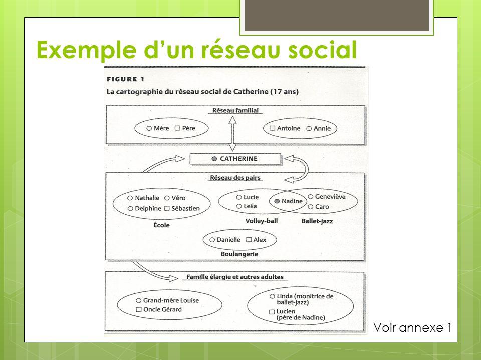 Exemple dun réseau social Voir annexe 1