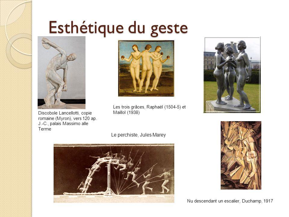 Discobole Lancellotti, copie romaine (Myron), vers 120 ap. J.-C., palais Massimo alle Terme Les trois grâces, Raphaël (1504-5) et Maillol (1938) Le pe
