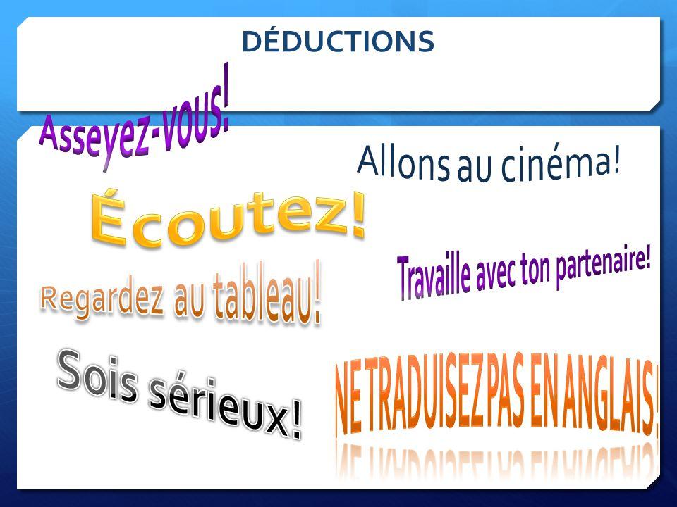 DÉDUCTIONS