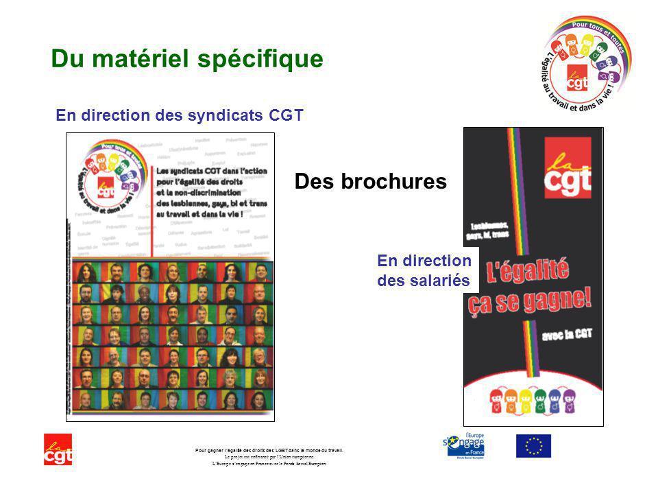 Du matériel spécifique Pour gagner légalité des droits des LGBT dans le monde du travail.