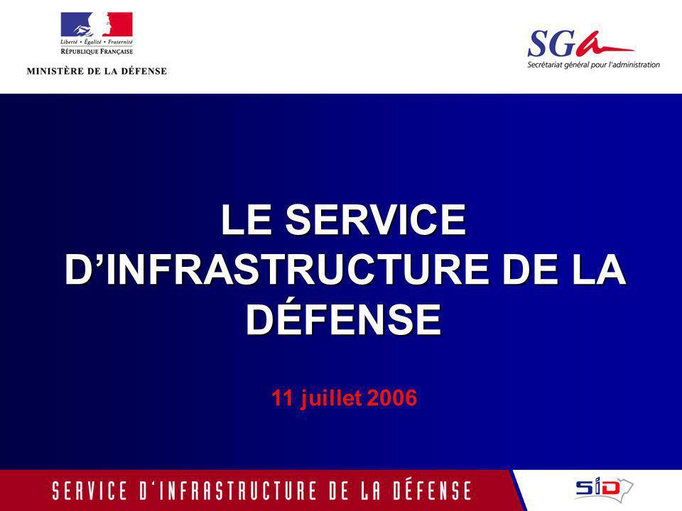 LE SERVICE DINFRASTRUCTURE DE LA DÉFENSE 11 juillet 2006