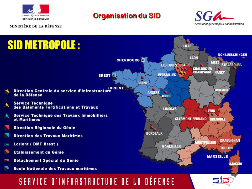 SID METROPOLE : Septembre 2005 Organisation du SID