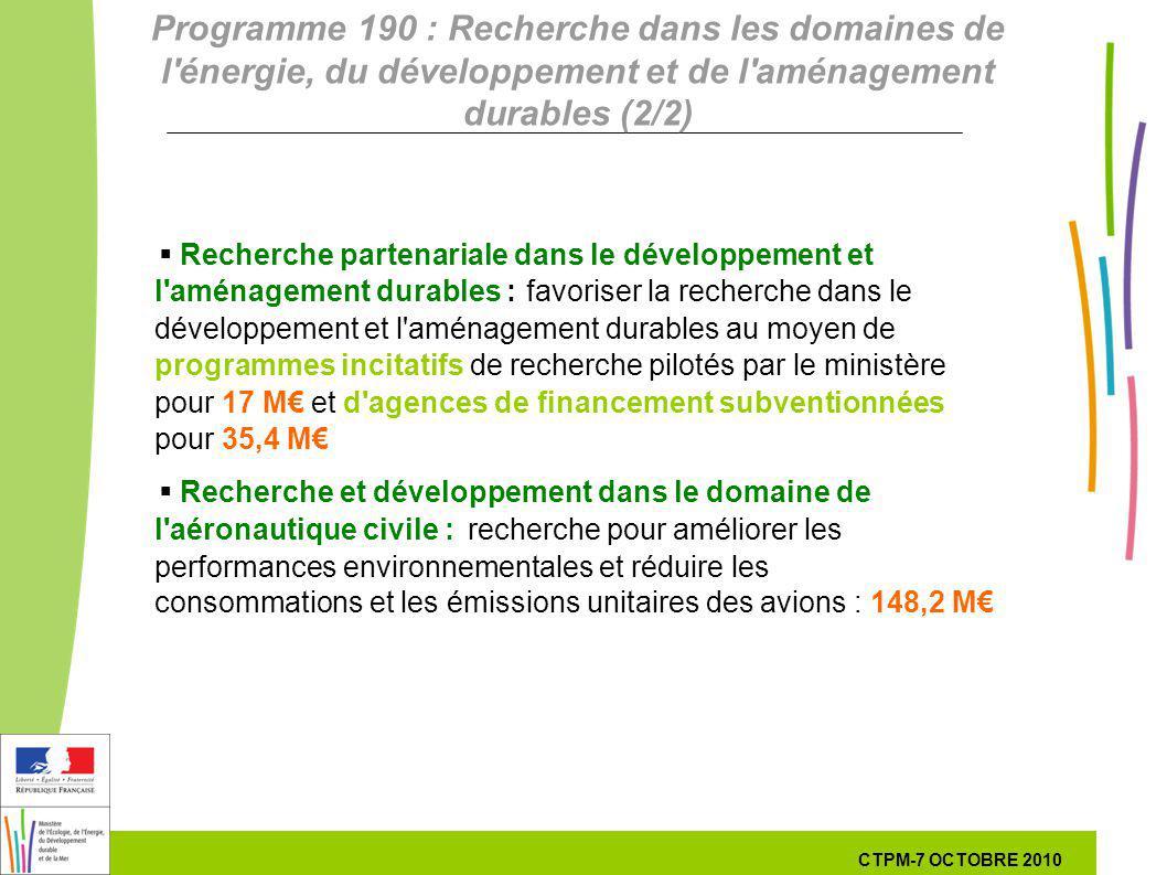 18 18 7 Octobre 201029 septembre 2010 Recherche partenariale dans le développement et l'aménagement durables :favoriser la recherche dans le développe