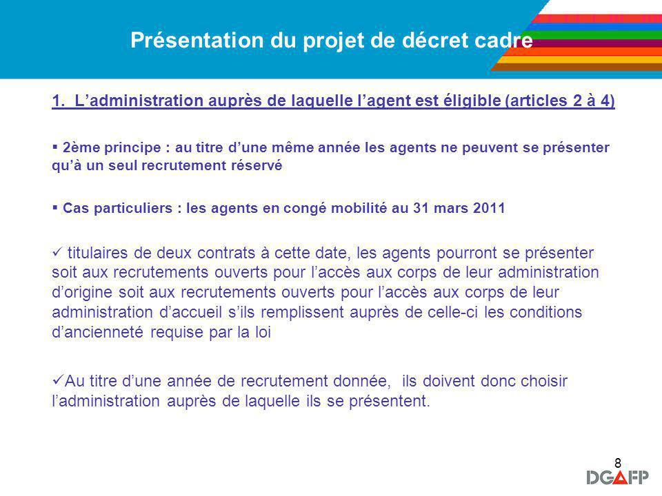 9 Présentation du projet de décret cadre 2.