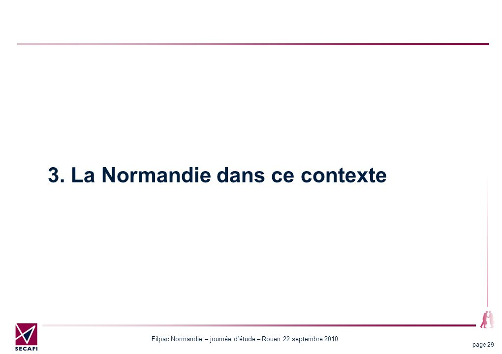 Filpac Normandie – journée d'étude – Rouen 22 septembre 2010 page 29 3. La Normandie dans ce contexte