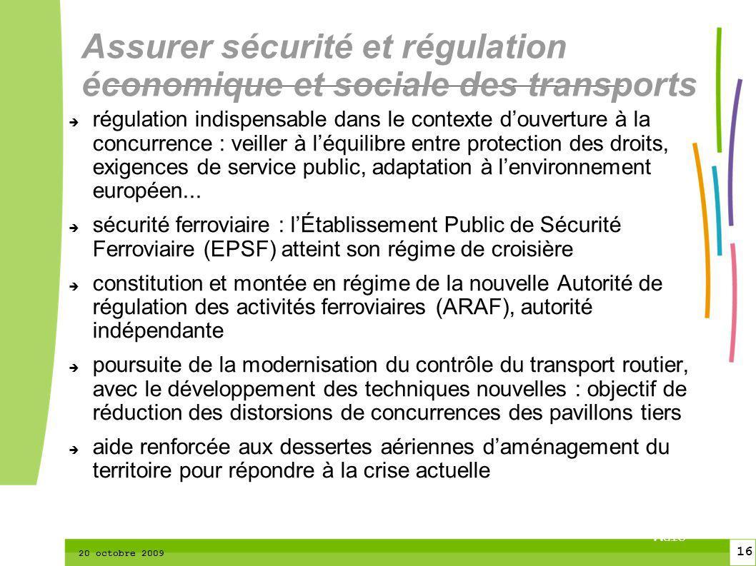 16 CTPM 2 16 CTPM 20 octobre 2009 régulation indispensable dans le contexte douverture à la concurrence : veiller à léquilibre entre protection des droits, exigences de service public, adaptation à lenvironnement européen...