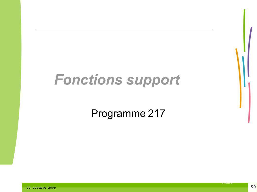 59 CTPM 2 59 CTPM 20 octobre 2009 Fonctions support Programme 217