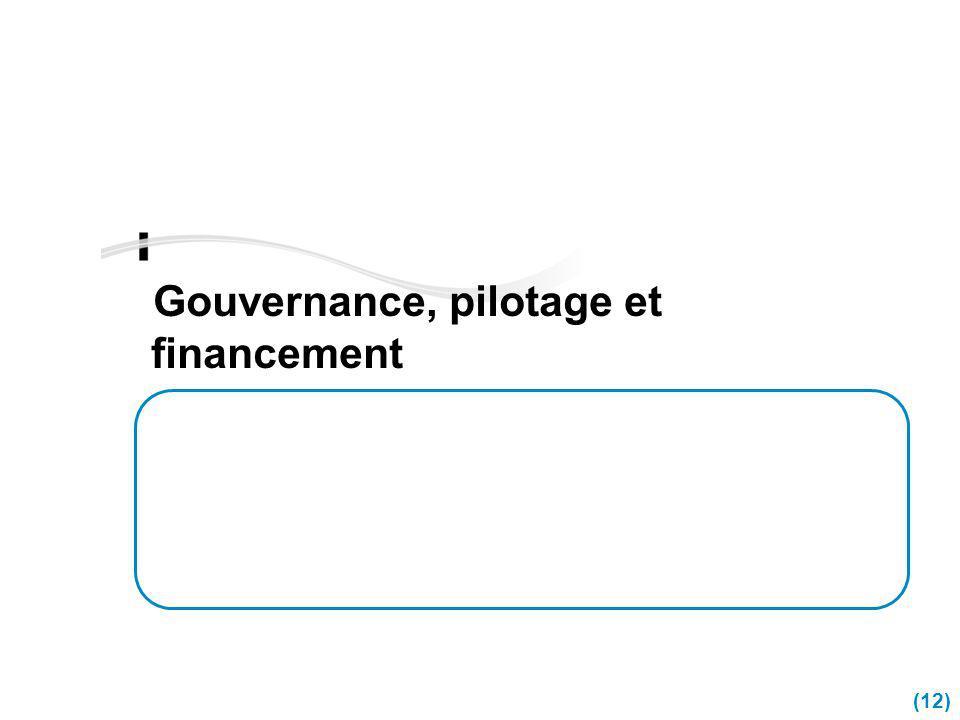 (12) Gouvernance, pilotage et financement